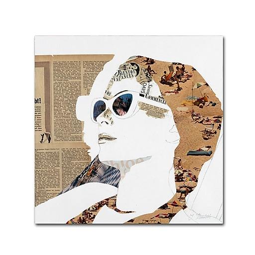 "Trademark Fine Art ''Grace'' by Ines Kouidis 24"" x 24"" Canvas Art (ALI0986-C2424GG)"