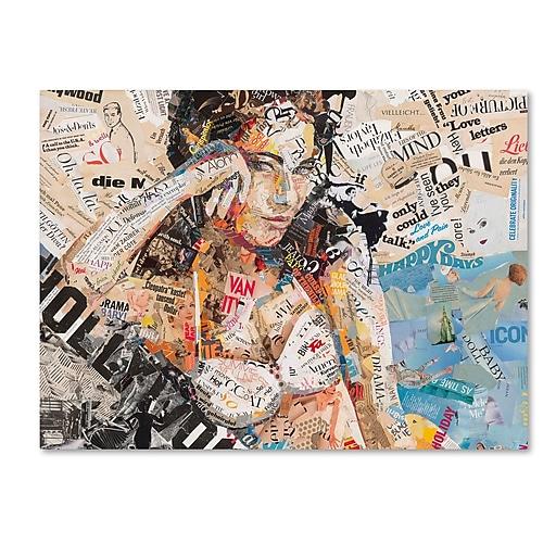 "Trademark Fine Art ''Hollywood'' by Ines Kouidis 35"" x 47"" Canvas Art (ALI0988-C3547GG)"