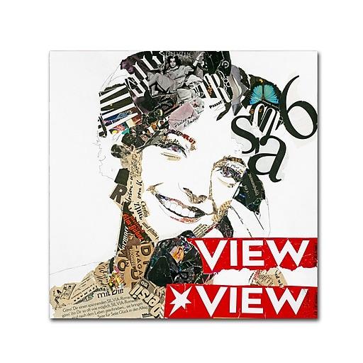 "Trademark Fine Art ''View View'' by Ines Kouidis 14"" x 14"" Canvas Art (ALI0997-C1414GG)"