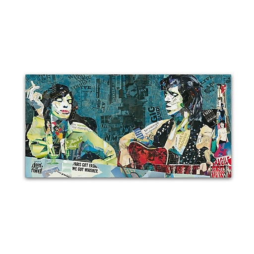 "Trademark Fine Art ''Doin' Our Thing'' by Ines Kouidis 24"" x 47"" Canvas Art (ALI1000-C2447GG)"
