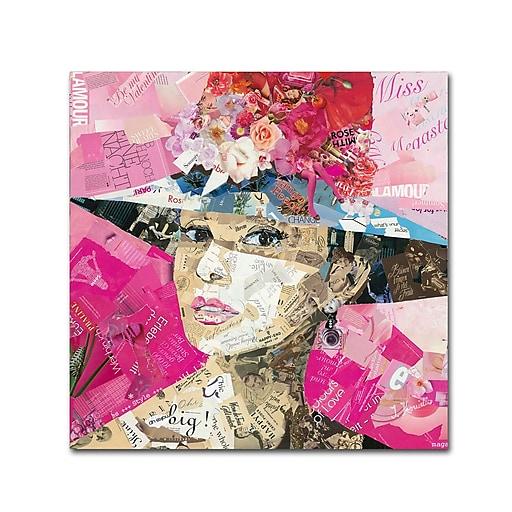 """Trademark Fine Art ''Girl Next Door'' by Ines Kouidis 24"""" x 24"""" Canvas Art (ALI1002-C2424GG)"""