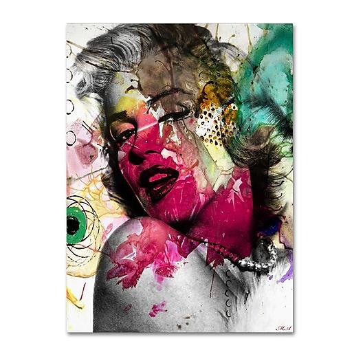 "Trademark Fine Art ''Marilyn Monroe II'' by Mark Ashkenazi 14"" x 19"" Canvas Art (ALI1008-C1419GG)"