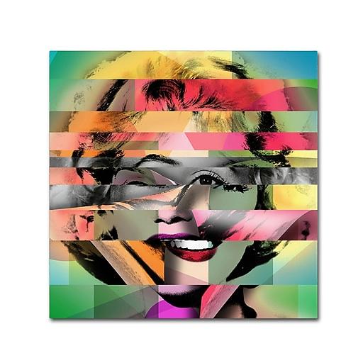 "Trademark Fine Art ''Marilyn Monroe V'' by Mark Ashkenazi 14"" x 14"" Canvas Art (ALI1011-C1414GG)"