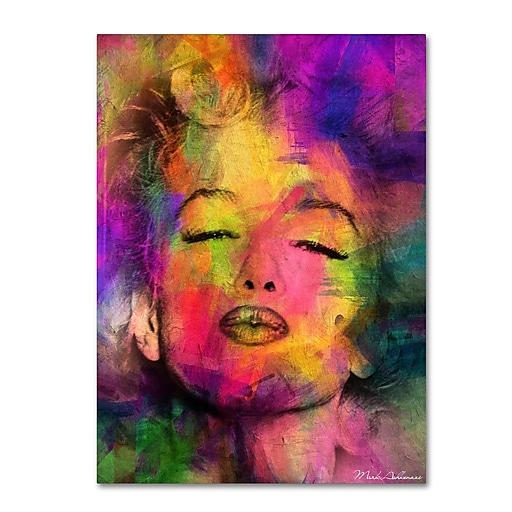 "Trademark Fine Art ''Marilyn Monroe VI'' by Mark Ashkenazi 18"" x 24"" Canvas Art (ALI1012-C1824GG)"