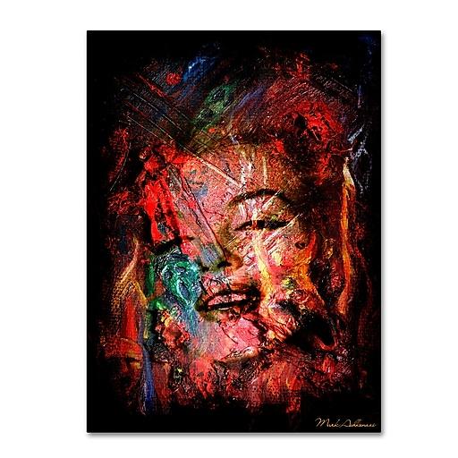 "Trademark Fine Art ''Marilyn Monroe VII'' by Mark Ashkenazi 24"" x 32"" Canvas Art (ALI1013-C2432GG)"