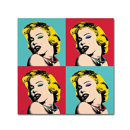 "Trademark Fine Art ''Pop Art Collage'' by Mark Ashkenazi 35"" x 35"" Canvas Art (ALI1015-C3535GG)"