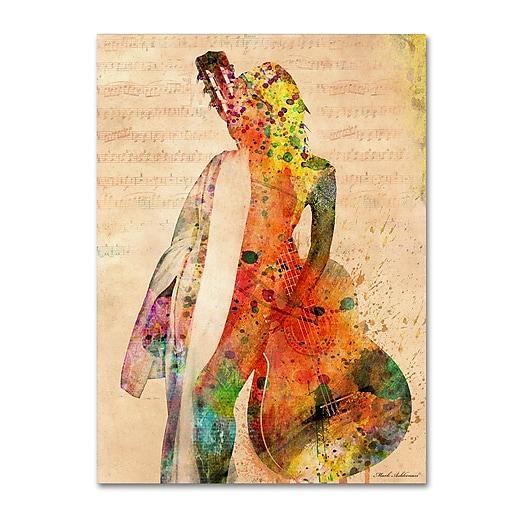 "Trademark Fine Art ''Gracias a la Vida Que Me Ha Dado Tanto'' by Mark Ashkenazi 24"" x 32"" Canvas Art (ALI1016-C2432GG)"
