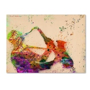 "Trademark Fine Art ''Saxophone'' by Mark Ashkenazi 35"" x 47"" Canvas Art (ALI1017-C3547GG)"