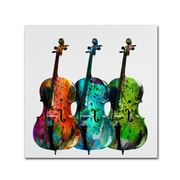 "Trademark Fine Art ''Cello'' by Mark Ashkenazi 14"" x 14"" Canvas Art (ALI1019-C1414GG)"
