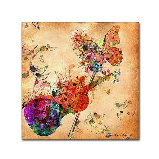 "Trademark Fine Art ''Love Music'' by Mark Ashkenazi 14"" x 14"" Canvas Art (ALI1020-C1414GG)"