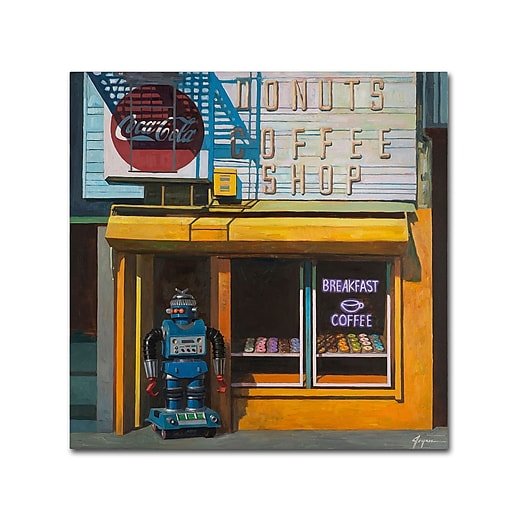 "Trademark Fine Art ''Blue Zeroid'' by Eric Joyner 18"" x 18"" Canvas Art (ALI1023-C1818GG)"