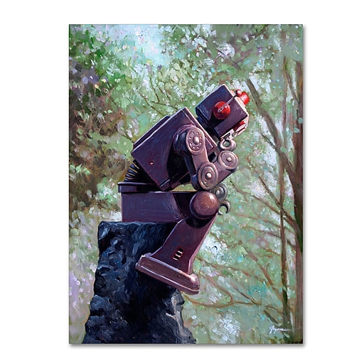 "Trademark Fine Art ''The Collator'' by Eric Joyner 24"" x 32"" Canvas Art (ALI1024-C2432GG)"