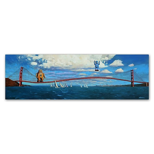 "Trademark Fine Art ''The Golden Gate'' by Eric Joyner 16"" x 47"" Canvas Art (ALI1027-C1647GG)"