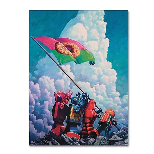 "Trademark Fine Art ''IO Jima'' by Eric Joyner 18"" x 24"" Canvas Art (ALI1029-C1824GG)"