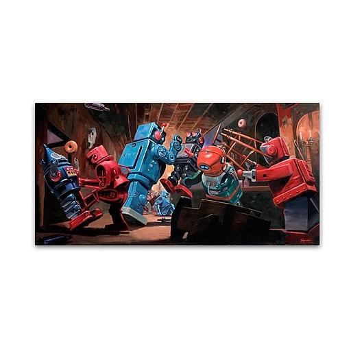 "Trademark Fine Art ''Malfunction'' by Eric Joyner 24"" x 47"" Canvas Art (ALI1034-C2447GG)"