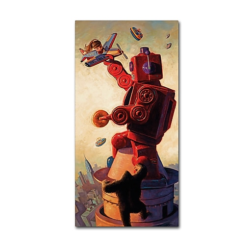 "Trademark Fine Art ''Robo King'' by Eric Joyner 16"" x 32"" Canvas Art (ALI1038-C1632GG)"