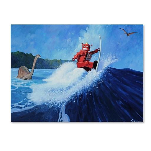 "Trademark Fine Art ''Surfs Up'' by Eric Joyner 18"" x 24"" Canvas Art (ALI1043-C1824GG)"