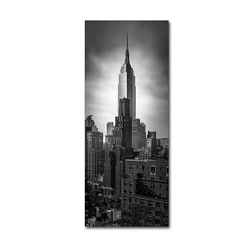 "Trademark Fine Art ''Empire State Vertical'' by Moises Levy 20"" x 47"" Canvas Art (ALI1053-C2047GG)"
