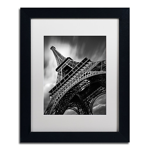 "Trademark Fine Art ''Eiffel Tower Study II'' by Moises Levy 11"" x 14"" White Matted Black Frame (ALI1056-B1114MF)"