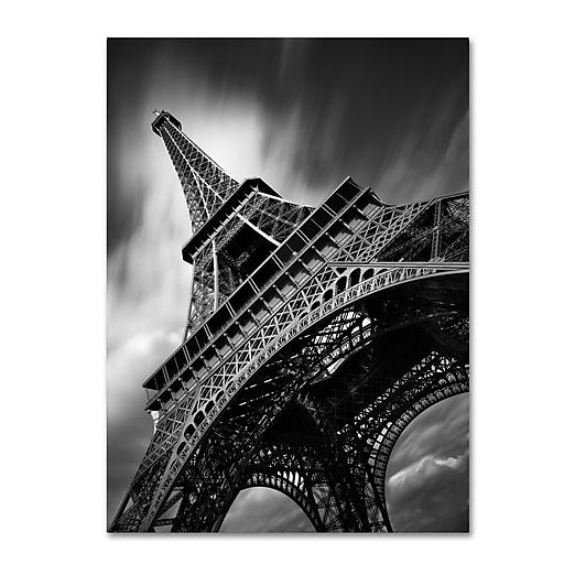 "Trademark Fine Art ''Eiffel Tower Study II'' by Moises Levy 14"" x 19"" Canvas Art (ALI1056-C1419GG)"