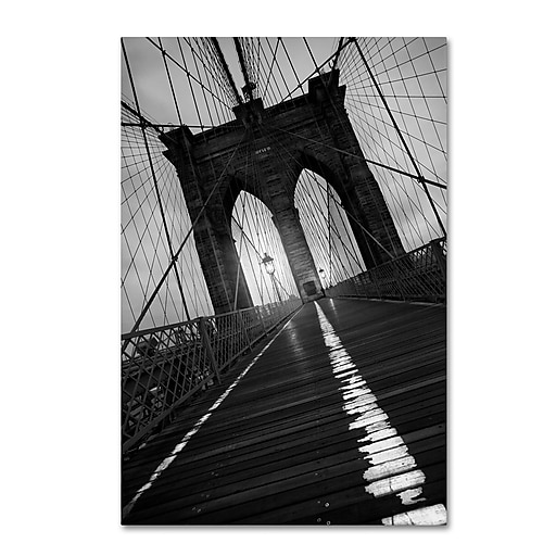 "Trademark Fine Art ''Brooklyn Bridge Study I'' by Moises Levy 16"" x 24"" Canvas Art (ALI1057-C1624GG)"