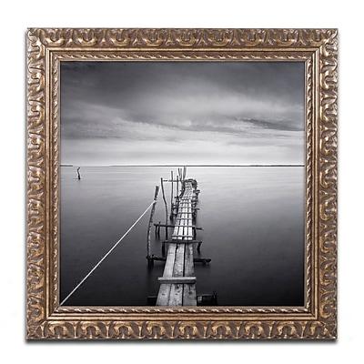 "Trademark Fine Art ''Direction'' by Moises Levy 11"" x 11"" Ornate Frame (ALI1058-G1111F)"