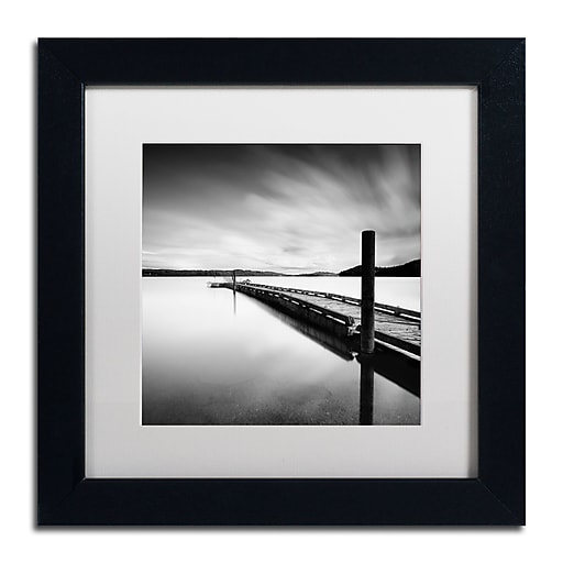 """Trademark Fine Art ''Stand By'' by Moises Levy 11"""" x 11"""" White Matted Black Frame (ALI1063-B1111MF)"""