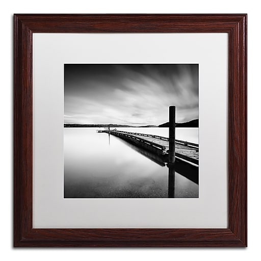 """Trademark Fine Art ''Stand By'' by Moises Levy 16"""" x 16"""" White Matted Wood Frame (ALI1063-W1616MF)"""