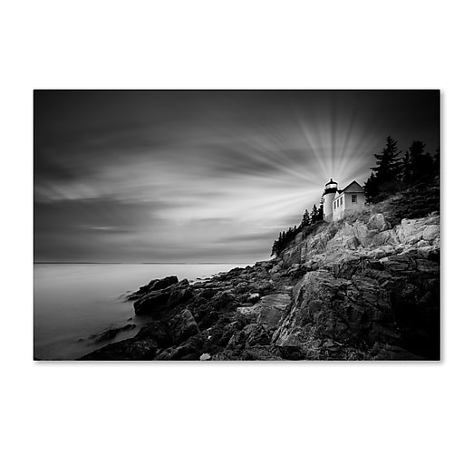 "Trademark Fine Art ''Bass Harbor Lighthouse'' by Moises Levy 22"" x 32"" Canvas Art (ALI1065-C2232GG)"