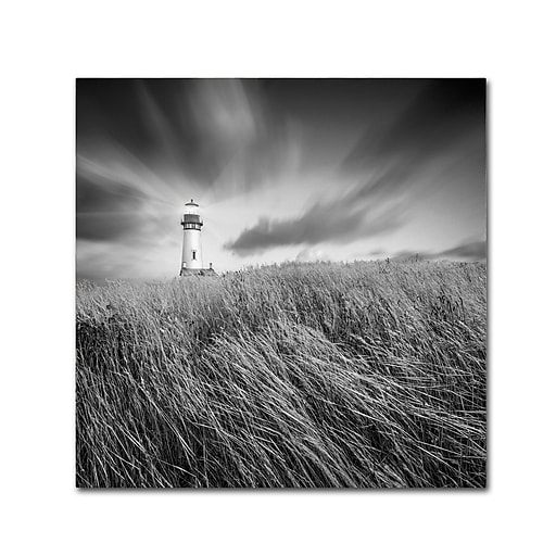 "Trademark Fine Art ''Yaquina Lighthouse III'' by Moises Levy 14"" x 14"" Canvas Art (ALI1070-C1414GG)"