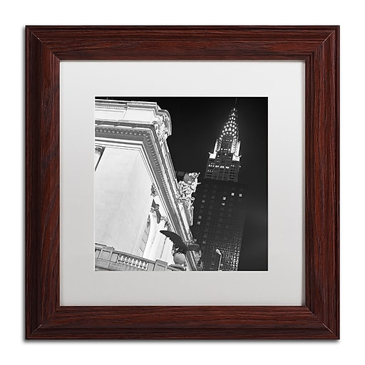 "Trademark Fine Art ''New York 003'' by Moises Levy 11"" x 11"" White Matted Wood Frame (ALI1071-W1111MF)"