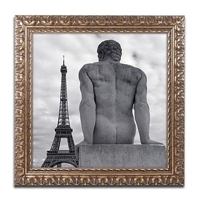 Trademark Fine Art ''Eiffel and Man'' by Moises Levy 11