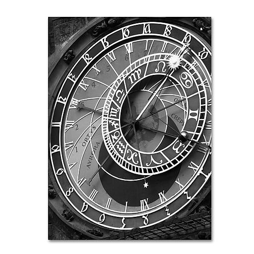 "Trademark Fine Art ''Astronomic Watch Prague 11'' by Moises Levy 14"" x 19"" Canvas Art (ALI1094-C1419GG)"