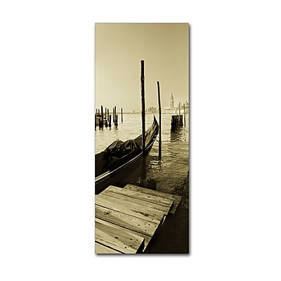 Trademark Fine Art ''Gondola and San Marco Antique'' by Moises Levy 8