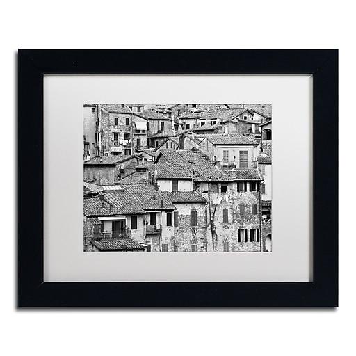 "Trademark Fine Art ''San Gimignano Texture'' by Moises Levy 11"" x 14"" White Matted Black Frame (ALI1098-B1114MF)"