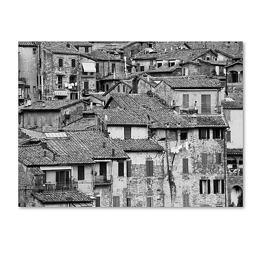 "Trademark Fine Art ''San Gimignano Texture'' by Moises Levy 18"" x 24"" Canvas Art (ALI1098-C1824GG)"
