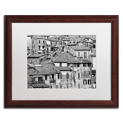 "Trademark Fine Art ''San Gimignano Texture'' by Moises Levy 16"" x 20"" White Matted Wood Frame (ALI1098-W1620MF)"