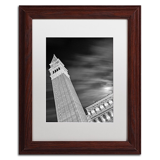 """Trademark Fine Art ''San Marco Sky'' by Moises Levy 11"""" x 14"""" White Matted Wood Frame (ALI1099-W1114MF)"""