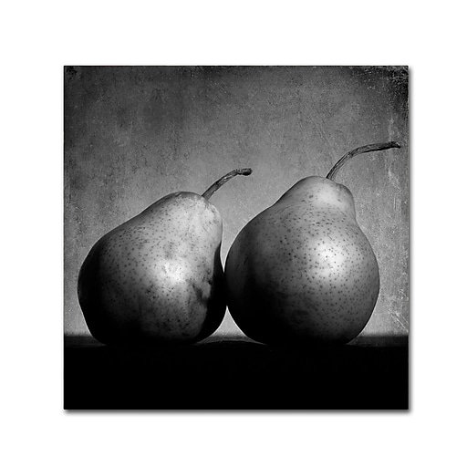 "Trademark Fine Art ''Coqueteo Peras'' by Moises Levy 18"" x 18"" Canvas Art (ALI1103-C1818GG)"