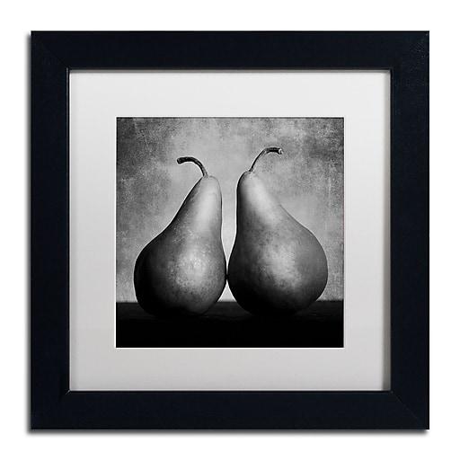 "Trademark Fine Art ''Peras Enamoradas'' by Moises Levy 11"" x 11"" White Matted Black Frame (ALI1106-B1111MF)"