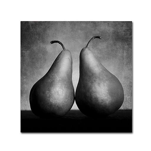 "Trademark Fine Art ''Peras Enamoradas'' by Moises Levy 14"" x 14"" Canvas Art (ALI1106-C1414GG)"