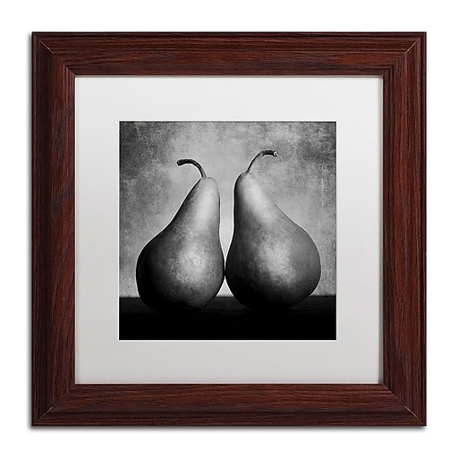 "Trademark Fine Art ''Peras Enamoradas'' by Moises Levy 11"" x 11"" White Matted Wood Frame (ALI1106-W1111MF)"