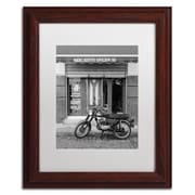 "Trademark Fine Art ''Mercadito Oficios'' by Moises Levy 11"" x 14"" White Matted Wood Frame (ALI1108-W1114MF)"