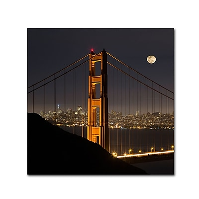 Trademark Fine Art ''Golden Gate and Moon'' by Moises Levy 14