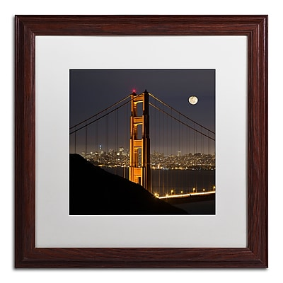 Trademark Fine Art ''Golden Gate and Moon'' by Moises Levy 16