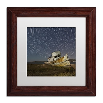"Trademark Fine Art ''Point Reyes I'' by Moises Levy 11"" x 11"" White Matted Wood Frame (ALI1114-W1111MF)"