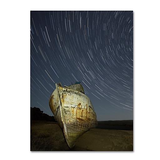"""Trademark Fine Art ''Point Reyes II'' by Moises Levy 18"""" x 24"""" Canvas Art (ALI1115-C1824GG)"""