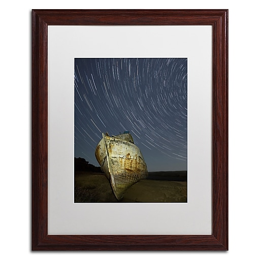 "Trademark Fine Art ''Point Reyes II'' by Moises Levy 16"" x 20"" White Matted Wood Frame (ALI1115-W1620MF)"
