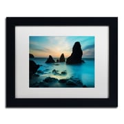 "Trademark Fine Art ''Rodeo Beach I'' by Moises Levy 11"" x 14"" White Matted Black Frame (ALI1116-B1114MF)"