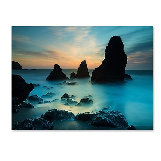 "Trademark Fine Art ''Rodeo Beach I'' by Moises Levy 24"" x 32"" Canvas Art (ALI1116-C2432GG)"